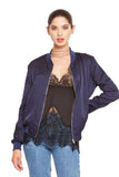 Silk basic bomber jacket