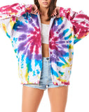 FIREWORK TIE DYE ZIP UP