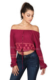 POSY PEASANT CROP TOP - SHOP MĒKO