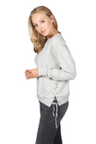 LACE UP SIDE PULLOVER - SHOP MĒKO