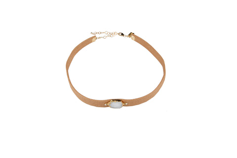 LEATHER DRUZY CHOKER - SHOP MĒKO