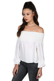 POLINA OFF THE SHOULDER TOP IVORY - SHOP MĒKO