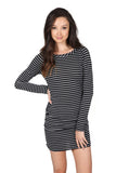 SPARKLE STRIPE TEE DRESS - SHOP MĒKO