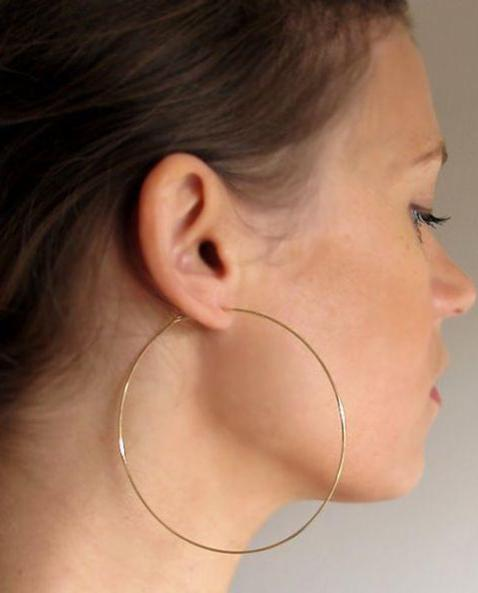 GOLD LARGE THIN HOOPS