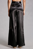SATIN FLOWING TROUSERS