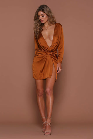 FAME & LUST SILK DRESS
