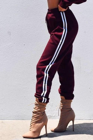 ATHLETIC STRIPED JOGGERS