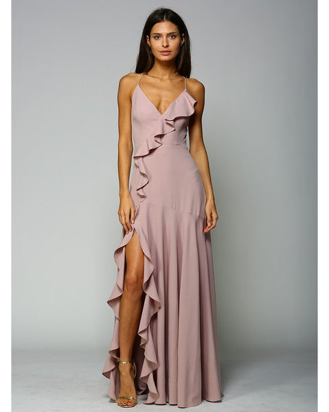 RUFFLE ME UP GOWN
