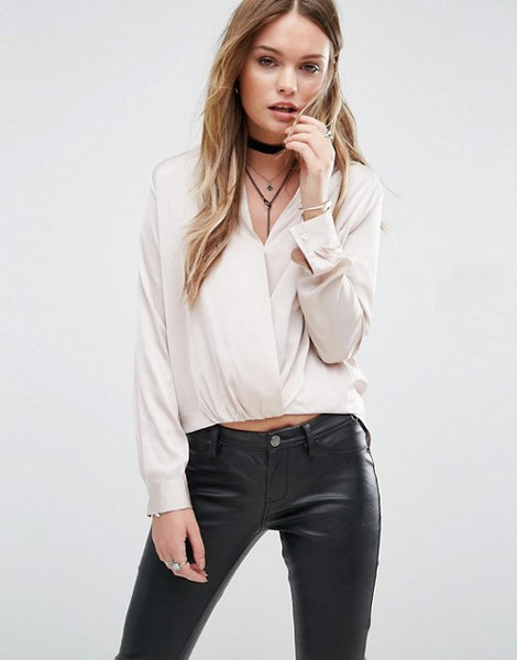 TWIST FRONT BLOUSE - SHOP MĒKO