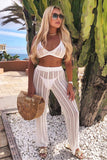 BEACH BOUND CROCHET PANTS SET