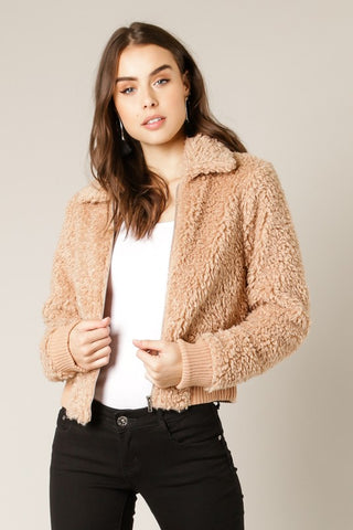 SHEARLING BOMBER JACKET