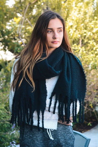 SO COZY SCARF - BLACK