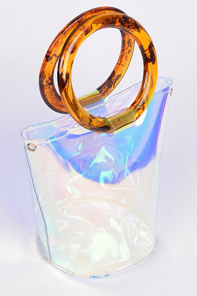 CLEAR BUCKET BAG