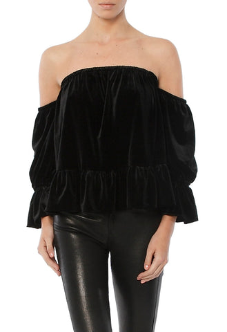 BRIGIT OFF THE SHOULDER RUFFLE TOP
