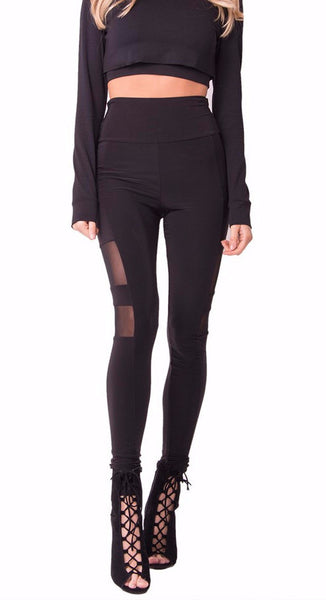 MESH PANEL LEGGINGS - SHOP MĒKO