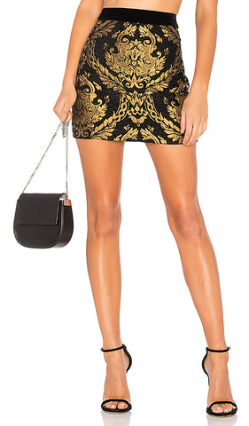 BROCADE MINI SKIRT