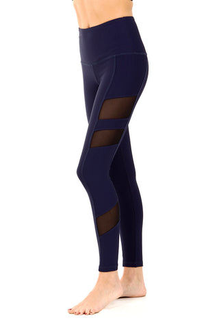 THE HOLDEN LEGGING - NAVY WAFFLE - SHOP MĒKO