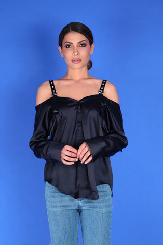 CHRISTINA COLD SHOULDER BLOUSE