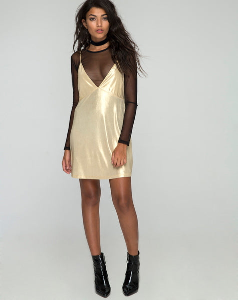 GOLD RUSH SLIP DRESS - SHOP MĒKO
