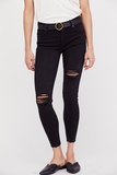 Shark Bite Skinny Denim Jeans Free People