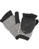 FLEECE-LINED HERRINGBONE TEXTING MITTENS - SHOP MĒKO