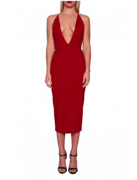 ADEL DRESS RED- MADAME X BODYCON