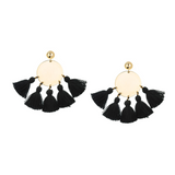 SHASHI TASSLE BLACK EARRINGS