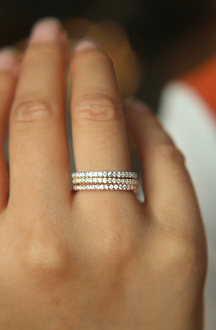 PAVE STACKING RING