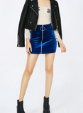 VELVET RING MINI SKIRT