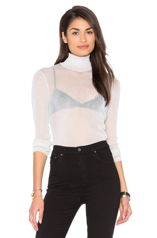 SILVER HAZEL ROLLNECK TOP