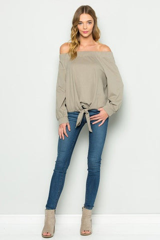 OFF SHOULDER SWEATSHIRT - SHOP MĒKO