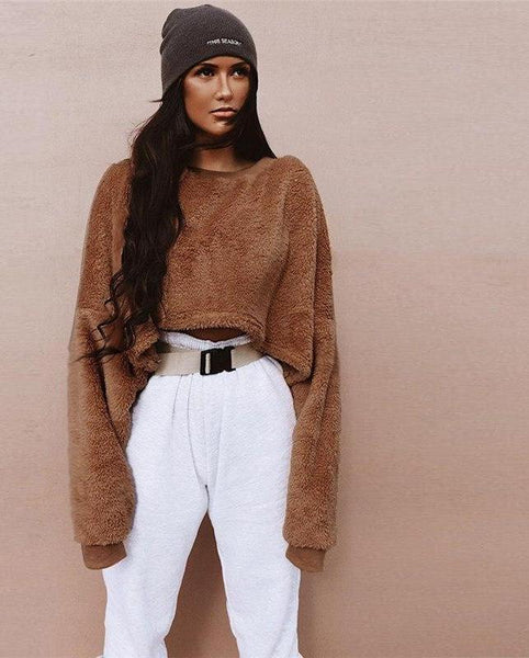 TEDDY CROPPED PULLOVER