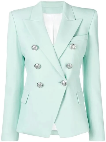 SILVER BUTTON BLAZER