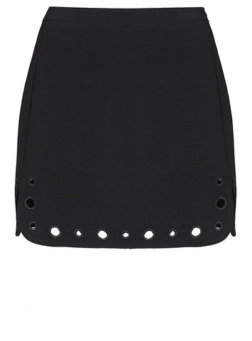 EYELET DETAIL MINI SKIRT - SHOP MĒKO