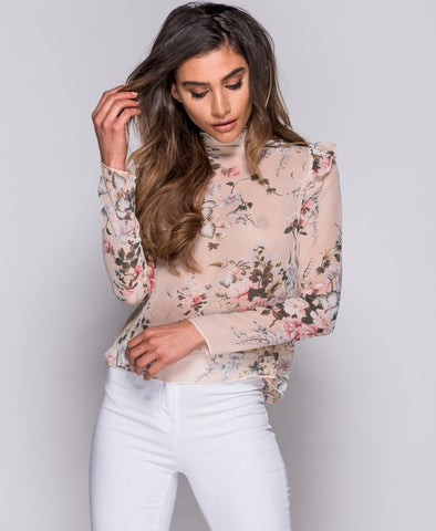 SAVANNA FRILL BLOUSE