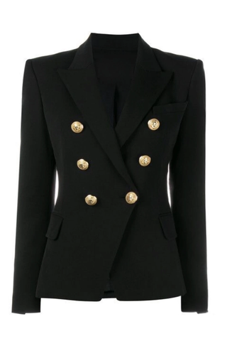 GOLD BUTTON BLAZER