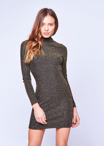 METALLIC RUBY ROSE BODYCON DRESS - SHOP MĒKO