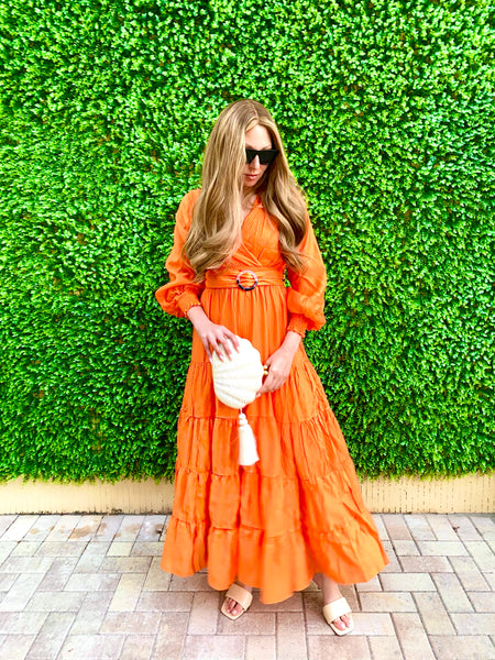 MANDARIN MAXI DRESS