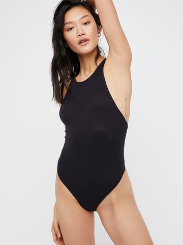 UP AND AROUND CRISS CROSS BODYSUIT FREE PEOPLE