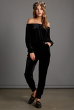 SLOW DANCE VELVET TOP
