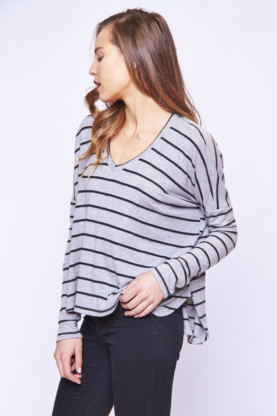 STRIPED DOLMAN TEE - SHOP MĒKO