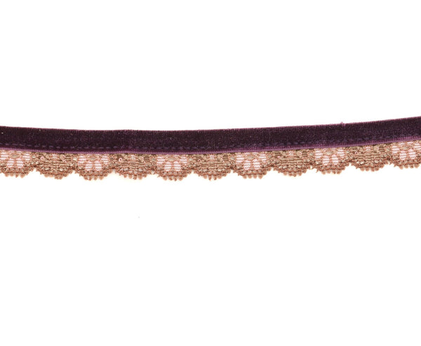 OH SWEET NUTHIN VELVET AND LACE CHOKER - SHOP MĒKO