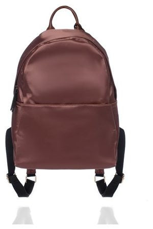 BROWN SATIN BACKPACK - SHOP MĒKO