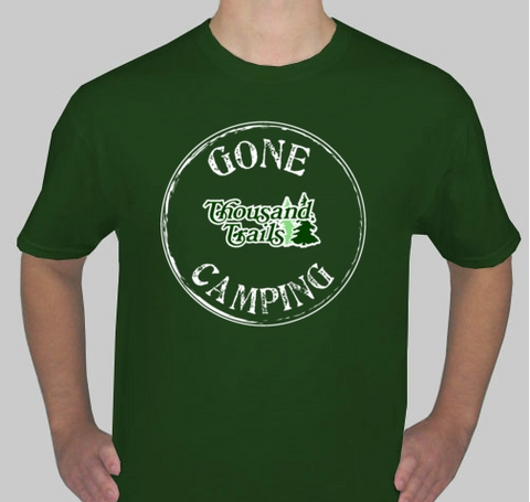"ADULT ""GONE CAMPING"" TEE SHIRT"