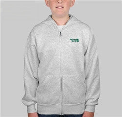 YOUTH FULL ZIP SWEATSHIRT-GRAY