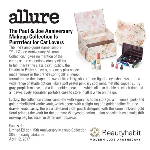 Paul & Joe, Limited Edition 15th Anniversary Makeup Collection, Beautyhabit