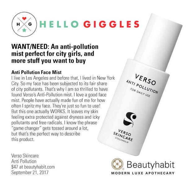 Verso Skincare, Anti Pollution, Beautyhabit