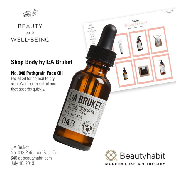 L:A Bruket, No. 048 Petitgrain Face Oil, Beautyhabit