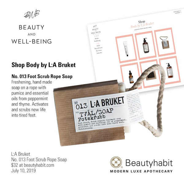L:A Bruket, No. 013 Foot Scrub Rope Soap, Beautyhabit