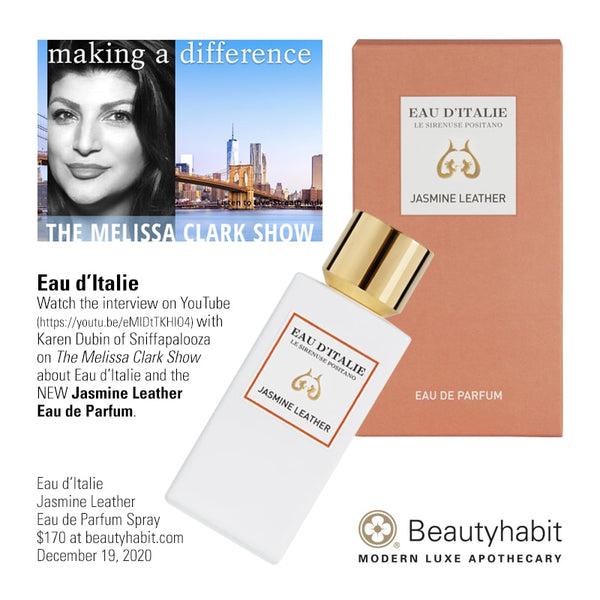 Eau d'Italie, Jasmine Leather, Eau de Parfume, Beautyhabit